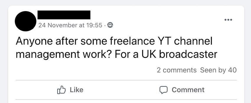 youtube job post