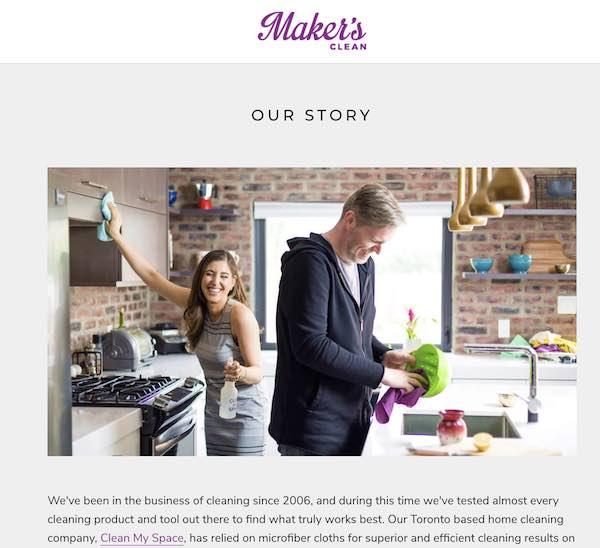 maker's clean back story