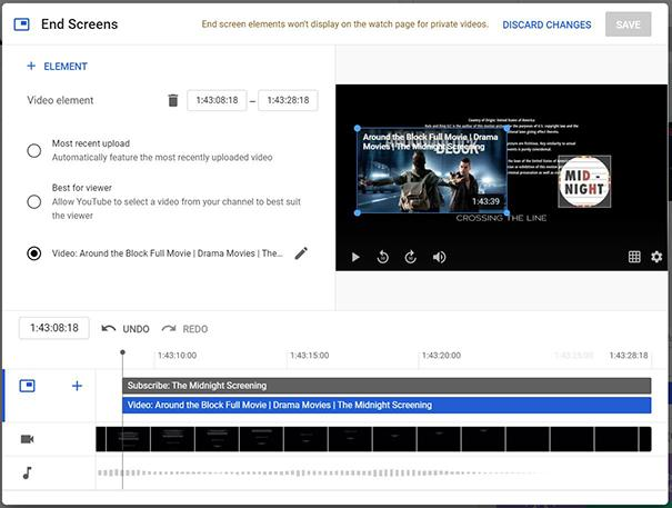 optimize youtube End Screen